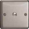 XSM1 Varilight 1 Gang, 1 Way, 6 Amp Momentary Switch, Classic Brushed Steel