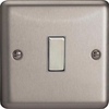 XS20D Varilight 1 Gang, 1 Way 20 Amp Switch, Classic Brushed Steel