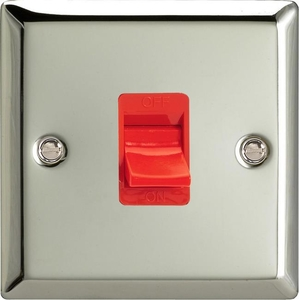 XC45SW Varilight 45 Amp Cooker Switch (Single Size), Classic Polished Chrome (also known as Classic Mirror Chrome)