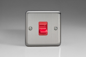 XS45SW Varilight 45 Amp Cooker Switch, Classic Brushed Steel
