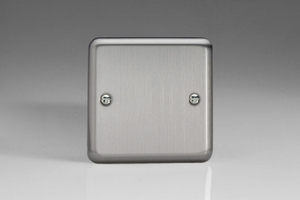 XSSB Varilight 1 Gang, Blank Plate, Classic Brushed Steel