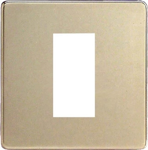 XDNG1S Varilight Single Size Data Grid Face Plate For 1 Data Module Width, Dimension Screwless Satin Chrome