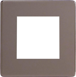 XDRG2S Varilight Single Size Data Grid Face Plate For 2 Data Modules, Dimension Screwless Pewter