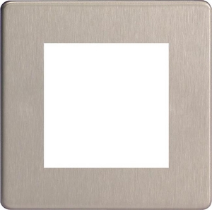 XDSG2S Varilight Single Size Data Grid Face Plate For 2 Data Modules, Dimension Screwless Brushed Steel