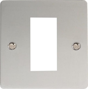 XFCG1 Varilight Single Size Data Grid Face Plate For 1 Data Module Width, Ultra Flat Polished Chrome