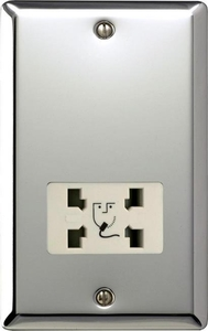 XCSSW Varilight Dual Voltage Shaver Socket, Classic Polished Chrome (also known as Classic Mirror Chrome)