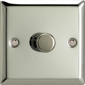 HC7-SP Varilight V-Dim 1 Gang, 1 or 2 Way 120 Watt Dimmer For  Energy Saving Lamps, Classic Polished Chrome (Bespoke)