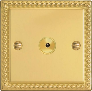 IGI401M Varilight 1 Gang, 1 or 2 Way or Multi-way 400 Watt Touch/Remote Master Dimmer, Classic Georgian Polished Brass Effect