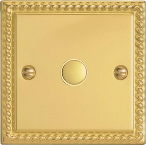IGS001 Varilight 1 Gang  Multi-way Touch Slave Unit, Classic Georgian Polished Brass Effect