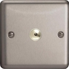 ISI401M Varilight 1 Gang, 1 or 2 Way or Multi-way 400 Watt Touch/Remote Master Dimmer, Classic Brushed Steel