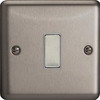 JSES001 - Varilight V-Pro Series Eclique2, 1 Gang Tactile Touch Button Slave Unit for 2 way or Multi-way Circuits Only, Classic Brushed Steel