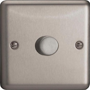 FSP1S1 Varilight Special Series 1 Gang Dimmer Designed for only one High Frequency Dimmable Ballast, Classic Brushed Steel