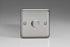 HS7-SP Varilight V-Dim 1 Gang, 1 or 2 Way 120 Watt Dimmer For  Energy Saving Lamps, Classic Brushed Steel (Bespoke)