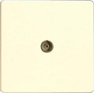 XDW8S Varilight 1 Gang (Single), Co-axial TV Socket, Dimension Screwless White Chocolate