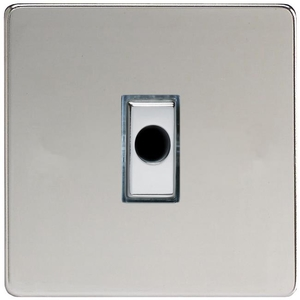 XDCFODS Varilight Flex Outlet Plate with Cable Clamp, Polished Chrome insert, Dimension Screwless Polished Chrome