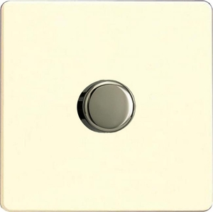 HDW9S Now discontinued, please choose TDWR1001S for 1000w dimming...Varilight V-Dim Series 1 Gang 1 or 2 Way 1000 Watt Dimmer, Dimension Screwless White Chocolate
