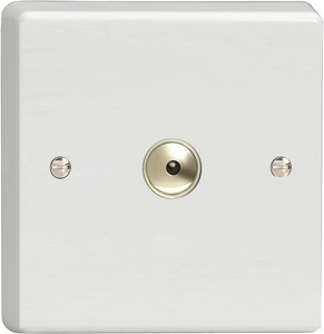 IQI601M Varilight 1 Gang, 1 or 2 Way or Multi-way 600 Watt Touch/Remote Master Dimmer, Classic White Dimmer
