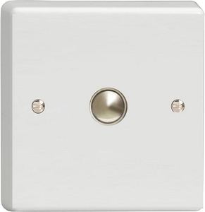 IQC401 Varilight 1 Gang (Single), 1 Way 400 Watt Touch Time Delay Dimmer, Classic White Plastic