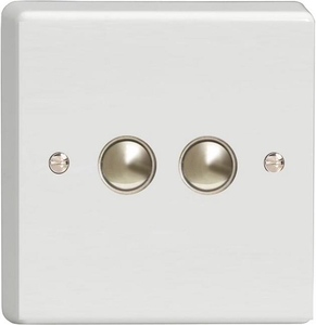 IQS002 Varilight 2 Gang, Multi-Way Dimming Slave Dimmer Classic White Dimmer
