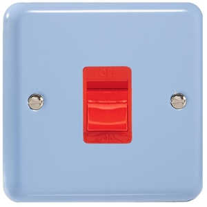 XY45SW.DB Varilight 45 Amp Cooker Switch (Single Size), Classic Lily Duck Egg Blue