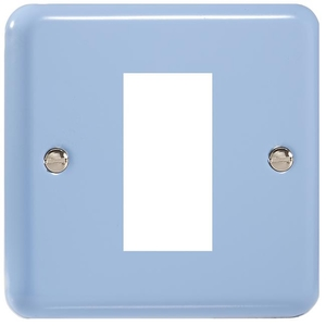 XYG1.DB Varilight Single Size Data Grid Face Plate For 1 Data Module Width, Classic Lily Duck Egg Blue