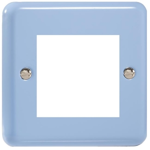 XYG2.DB Varilight Single Size Data Grid Face Plate For 2 Data Modules Width, Classic Lily Duck Egg Blue