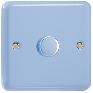 IYP701.DB Varilight V-Plus 1 Gang, 1 or 2 Way 700 Watt/VA Dimmer, Classic Lily Duck Egg Blue