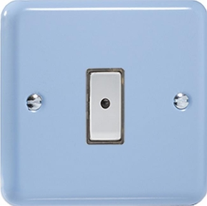 JYE101.DB - Varilight V-Pro Series Eclique2, 1 gang Intelligent Programmable Master Dimmer, with Tactile Touch Button and Integrated Remote Control Sensor 0-100 Watts of LEDs (10 LEDs Max), Classic Lily Duck Egg Blue