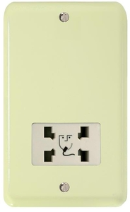 XYSSW.WC Varilight Dual Voltage Shaver Socket, Classic Lily White Chocolate