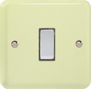 JYES001.WC - Varilight V-Pro Series Eclique2, 1 Gang Tactile Touch Button Slave Unit for 2 way or Multi-way Circuits Only, Classic Lily White Chocolate