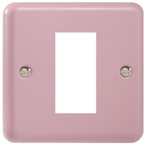 XYG1.RP Varilight Single Size Data Grid Face Plate For 1 Data Module Width, Classic Lily Rose Pink