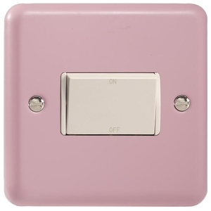XYFIW.RP Varilight 10 Amp Fan isolating Switch (3 Pole), Classic Lily Rose Pink