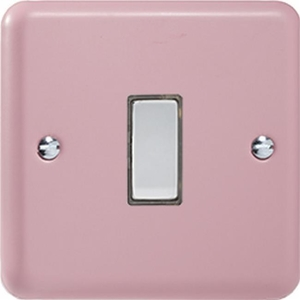 JYES001.RP - Varilight V-Pro Series Eclique2, 1 Gang Tactile Touch Button Slave Unit for 2 way or Multi-way Circuits Only, Classic Lily Rose Pink