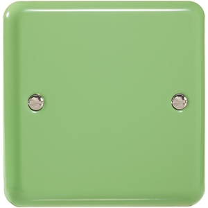 XYSB.BG Varilight 1 Gang (Single), Blank Plate, Classic Lily Beryl Green