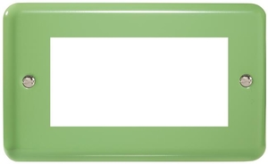XYG4.BG Varilight Double Size Data Grid Face Plate For 3 or 4 Data Modules Width, Classic Lily Beryl Green
