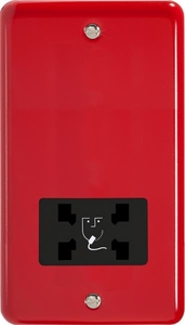 XYSSB.PR Varilight Dual Voltage Shaver Socket, Classic Lily Pillar Box Red