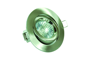 DGGS GU10 Downlight Tilt Satin Chrome - Die Cast (This Matches With Varilight's Brushed Steel Ranges)
