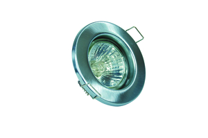 GU10 Downlight - Fixed - Satin Chrome  (RGFS) (This Matches With Varilight's Brushed Steel Ranges)