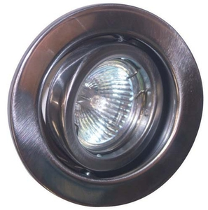 GU10 Downlight - Tilt - Satin Chrome  (RGGS) (This Matches With Varilight's Brushed Steel Ranges)