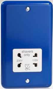 XYSSW.RB Varilight Dual Voltage Shaver Socket, Classic Lily Reflex Blue