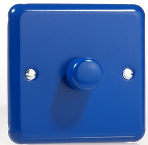 IYP701.RB Varilight V-Plus 1 Gang, 1 or 2 Way 700 Watt/VA Dimmer, Classic Lily Reflex Blue