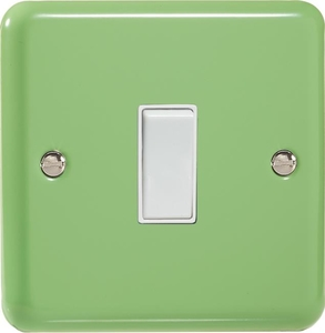 XY7W.BG Varilight 1 Gang (Single), (3 Way) Intermediate 10 Amp Switch, Classic Lily Beryl Green