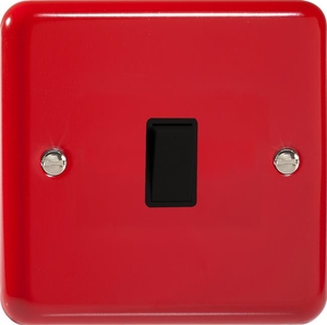 XY7B.PR Varilight 1 Gang (Single), (3 Way) Intermediate 10 Amp Switch, Classic Lily Pillar Box Red