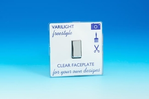 XIF20C Varilight 1 Gang, 1 Way 20 Amp Switch, Dimension Screwless Freestyle