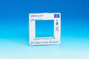 XIFG2C Varilight Single Size Data Grid Face Plate For 2 Data Modules, Dimension Screwless Freestyle