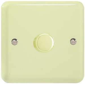 KYP401.WC  Varilight V-Com Series 1 Gang, 1 or 2 Way 40-400 Watt Commercial LED Dimmer, Classic Lily White Chocolate