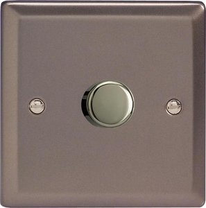 KRP401 Varilight V-Com Series 1 Gang, 1 or 2 Way 40-400 Watt Commercial LED Dimmer, Classic Pewter