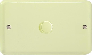 KYDP601.WC Varilight V-Com Series 1 Gang, 1 or 2 Way 60-600 Watt Commercial LED Dimmer, Classic Lily White Chocolate