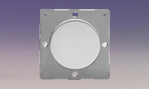 Z1EGBS-P Varilight European VariGrid 1 gang Blank Plate, for use with VariGrid Single, Double and Triple Faceplates