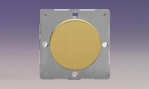 Z1EGBB-P Varilight European VariGrid 1 gang Blank Plate, for use with VariGrid Single, Double and Triple Faceplates